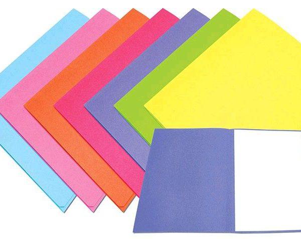 Odkládací mapa 250 fialová Desky vyrobené z barevného kartonu-fialová -bez chlopní -balení 100 ks