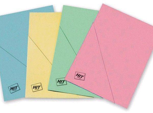 Odkládací desky šikmý roh růžové Desky s rohem vyrobené z barevného kartonu/RŮŽOVÁ Balení obsahuje: 50 ks