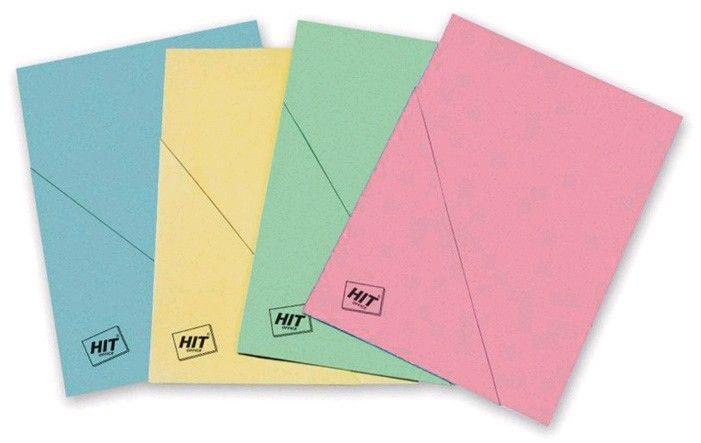 Odkládací desky šikmý roh zelené Desky s rohem vyrobené z barevného kartonu/ZELENÁ Balení obsahuje: 50 ks
