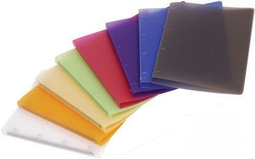 Desky 4 krou/20 OPAL oranž Desky z transparentního polypropylenu s kroužkovou mechanikou -pro ukládání děrovaných dokumentů -šíře hřbetu 2 cm -kapacita 70 listů -balení: 25ks -800 mikronů