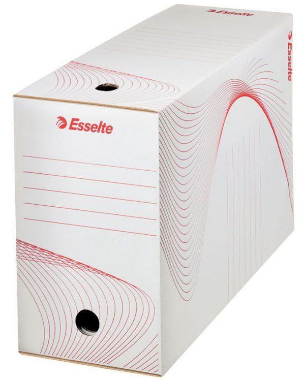 Box archivní A4 ESSELTE plný 20cm Papírová krabice sloužící k archivaci materiálů -hřbet s otvorem pro snadnou manipulaci a potisk pro popis Rozměr 34