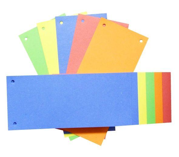 Rozdružovač 24x11 mix barev/100ks Krásně barevné kartonové rozdružovací jazyky do pořadačů. Rozměr: 24 cm x 10