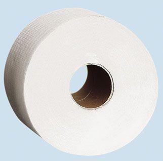 Toaletní papír JUMBO 180-190 dvouvrstvé celulóza Toaletní papír Jumbo -dvouvrstvý -vymačkávaný -měkký -bílý Průměr 190 mm. 12 rolí v balení.