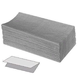 Ručník Z-Z 5000ks šedé Rručníky šedé -jednovrstvrstvé -5000 ks -papírové skládané ručníky do zásobníků
