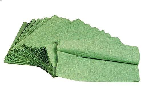 Ručník Z-Z 5000ks jednovrstvé zelené Ručníky zelené -jednovrstvvrstvé -5000 ks -papírové skládané ručníky do zásobníků
