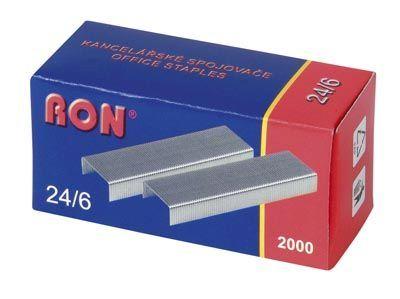 Spojovače do sešívačky 24/6 2000ks RON Spojovače vel. 24/6 -kvalitní drátky do sešívaček -balení obshauje: 2000ks