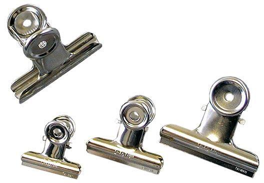Klips kovový stříbrný 0201 63mm Klips kovový stříbrný -balení obsahuje 12 ks/63mm