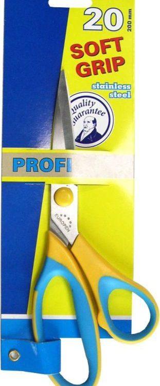 Nůžky Profi 200mm Klasické kancelářské nůžky -plastová rukojeť Délka: 20cm