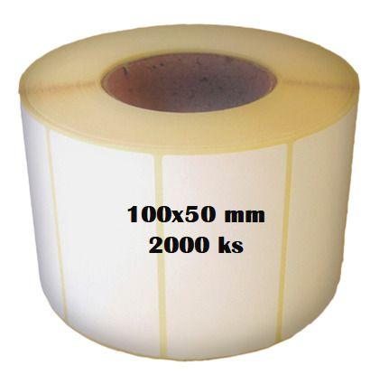 Etikety na roli 100x50/2000ks Etikety jsou navinuty na dutince o průměru 40 mm