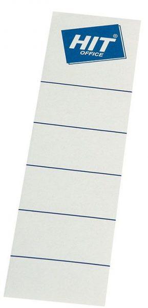 Etikety na pořadač 8cm lepicí/10ks Papírové samolepicí hřbetní štítky pro přehledné rozlišení pořadačů a v nich založených dokumentů. Pro rozměr: 8 cm Balení obsahuje 10 ks. Lepicí