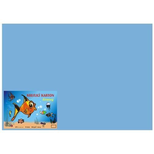 Kreslicí karton A1/180gr/10lis tm. modrá Kreslicí karton barevný Barevný kreslicí karton najde uplatnění nejen ve školách
