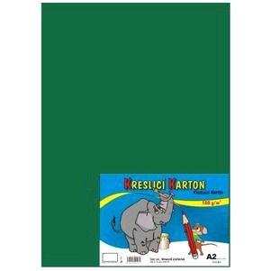 Kreslicí karton A2/180gr/10lis tm. zelená Kreslicí karton barevný -Barevný kreslicí karton najde uplatnění nejen ve školách