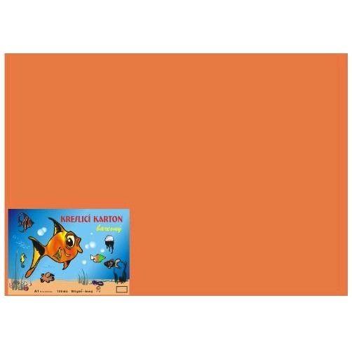 Kreslicí karton A2/180gr/10lis oranžová Kreslicí karton barevný -Barevný kreslicí karton najde uplatnění nejen ve školách