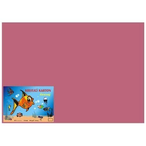 Kreslicí karton A2/180gr/10lis růžová Kreslicí karton barevný -Barevný kreslicí karton najde uplatnění nejen ve školách