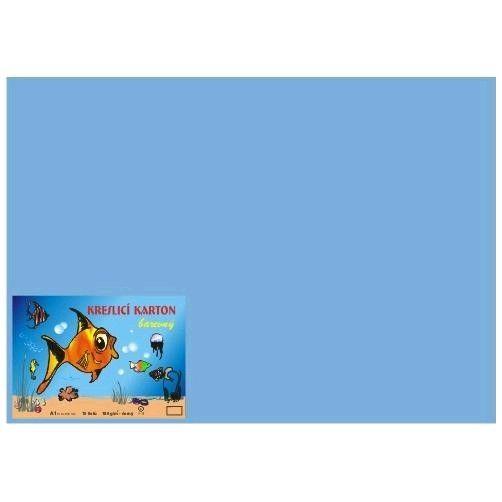 Kreslicí karton A1/180gr/10lis sv. modrá Kreslicí karton barevný Barevný kreslicí karton najde uplatnění nejen ve školách
