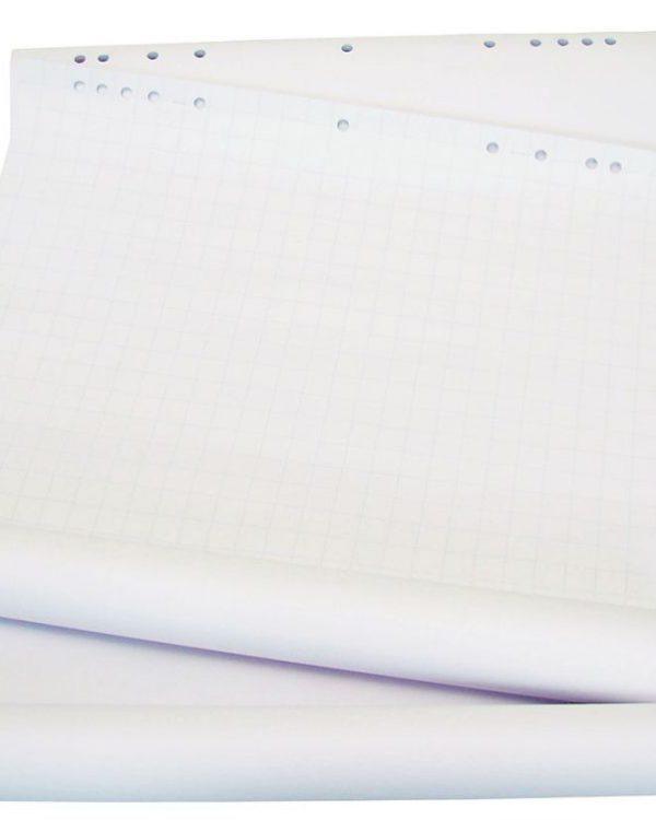 Blok Flipch.bílý 1000x700/25listů Čistý - blok na flipchartovou tabuli s 10ti závěsnými otvory pro většinu flipchartových tabulí -materiál bílá křída 60 g / m2 -odolná proti propisování na další strany -obsah: 25 listů -rozměr 95 x 68 cm