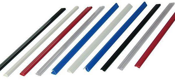 Hřbet nasouvací 6mm bílý 30-60listů Lišty nasouvací-bílá -pro jednoduché vázání neděrovaných dokumentů -kapacita 30