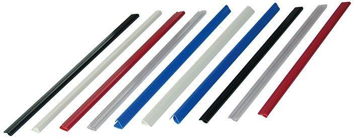 Hřbet nasouvací 6mm modrý 30-60listů Lišty nasouvací-modrá -pro jednoduché vázání neděrovaných dokumentů -kapacita 30