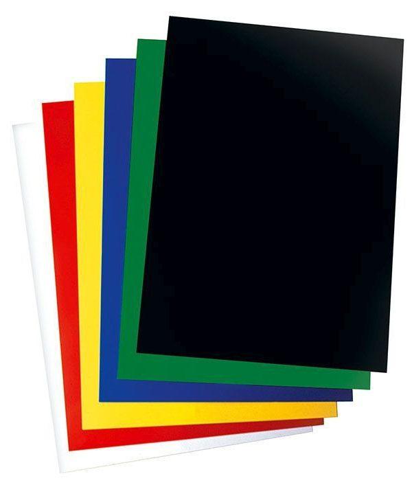 Krou. vazba zadní černá A4/100ks *černá* Zadní strana z kartonu 250 g s designem imitace kůže Formát: A4 Balení obsahuje: 100ks