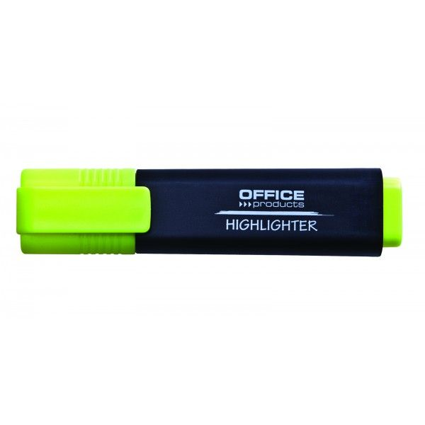 Zvýrazňovač OFFICE plochý žlutý Kvalitní zvýrazňovač pro včechny typy papíru. Netoxický