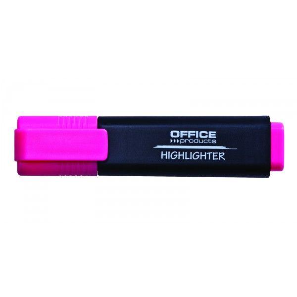 Zvýrazňovač OFFICE plochý růžový Kvalitní zvýrazňovač pro včechny typy papíru. Netoxický