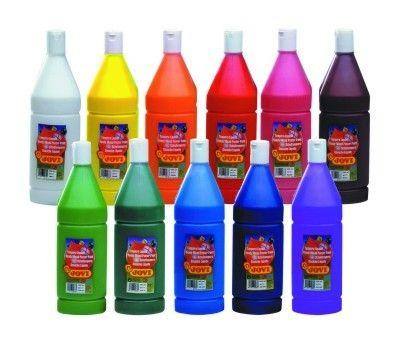 Barvy temperové JOVI 1lt červená - 51107 Nové tempery značky Jovi jsou označovány jako hotové temperové barvy. Jsou odlišné od klasických školních temperových barev