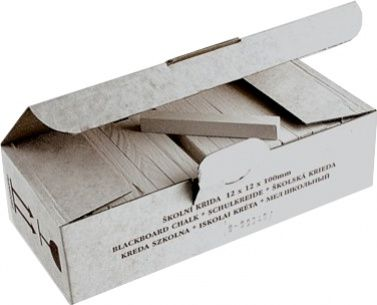 Křída školní bílá 100 ks Koh-i-noor Křída školní bílá čtyřhranná je primárně určena pro psaní na školní tabule