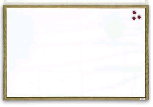 Tabule magnetická 60x90 dřevěný rám Magnetická tabule dřevěný rám - 90 x 60 cm -magnetická lakovaná tabule v přírodním dřevěném rámu -vhodná na psaní suchými stíratelnými popisovači