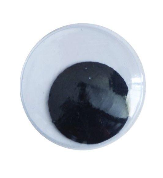 Očička kulatá k nalepení 25mm/100ks Mrkací očička pro vaše kreativní hrátky. Použijete je na svá papírová zvířátka