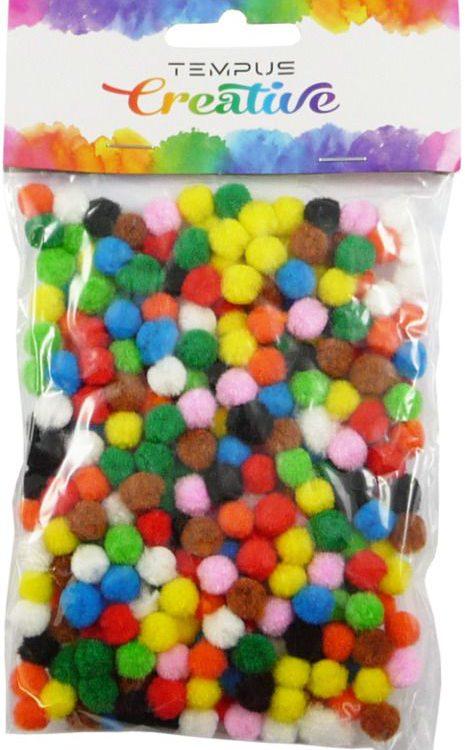 Pompony-plyšové mix barev 7mm/300ks Heboučké