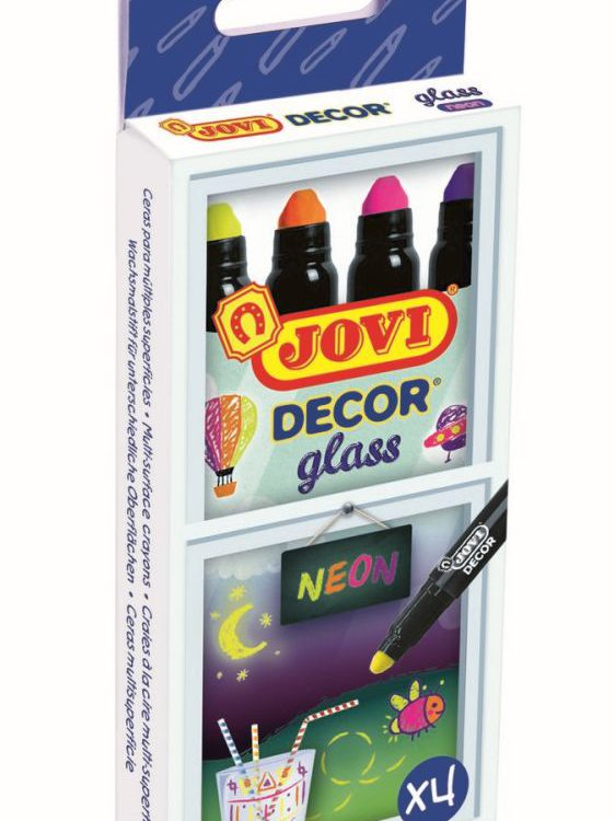 FIXY JOVI na sklo neon 4ks - 1904N ! NEONOVÉ ! Akrylové popisovače na bázi vody s výbornou krycí schopností