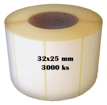 Etikety na roli 32x25/3000ks Etikety jsou navinuty na dutince o průměru 40 mm
