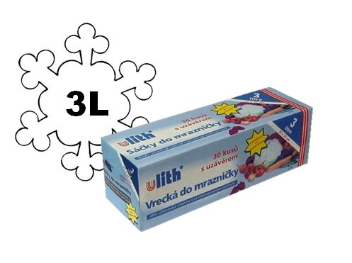 Sáček do mrazničky 3l/30ks Sáček určení pro zmrazení potravin -objem: 3L -balení obsahuje: 20ks -obsahuje místo na popis -extra pevné -na roli