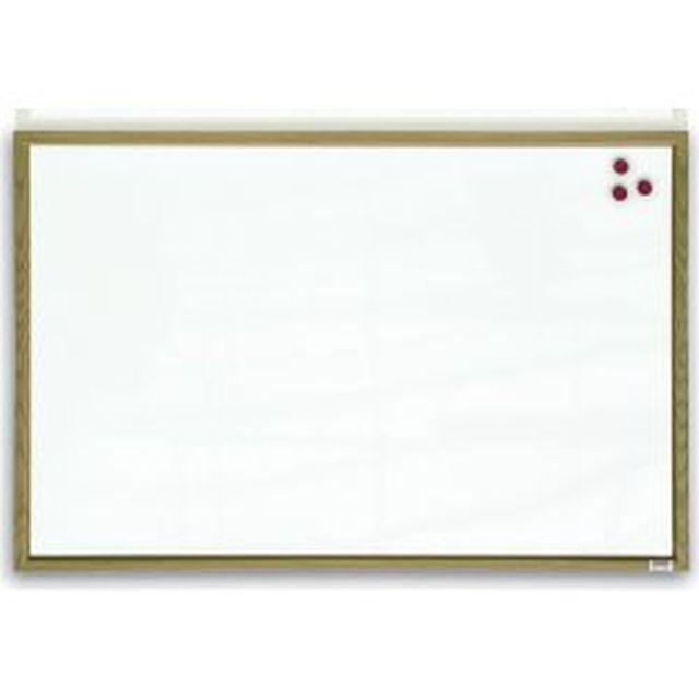 Tabule magnetická 60x40 dřevěný rám Bílá magnetická tabule v dřevěném rámu - 60 x 40 cm -magnetická lakovaná tabule v přírodním dřevěném rámu -vhodná na psaní suchými stíratelnými popisovači
