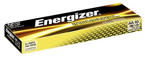 Baterie tužkové alkalické ENERGIZER AA/10ks Alkalické tužkové baterie přinesou dlouhý provoz přístrojům