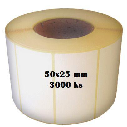 Etikety na roli 50x25/3000ks Etikety jsou navinuty na dutince o průměru 40 mm