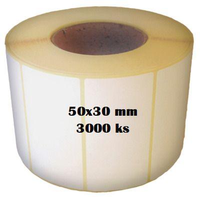 Etikety na roli 50x30/3000ks Etikety jsou navinuty na dutince o průměru 40 mm