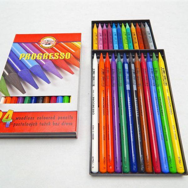 Progresso 8758/24 barev Koh-i-noor Tradiční dlouhé pastelky Progresso v laku s velmi silným jádrem