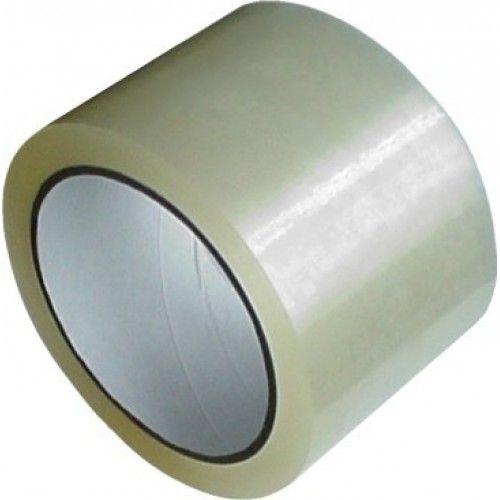 Lepicí páska 75x66 transparent Lepící páska pro balení zásilek -vhodná na použití do skladů -síla 28 mikronů Rozměr: 75mm x 66m