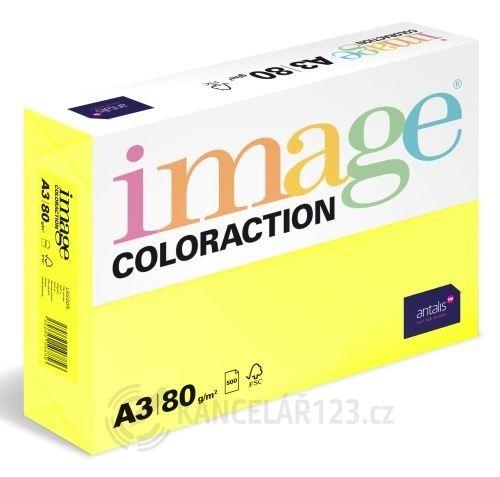 Papír barevný Color A3/80gr Canary CY39 Obrázek pouze ukazuje odstín barvy