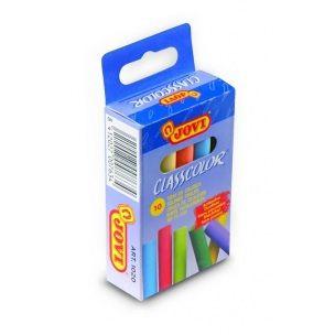 Křídy školní 10ks JOVI barevné - 1020 Křídy bílé i barevné