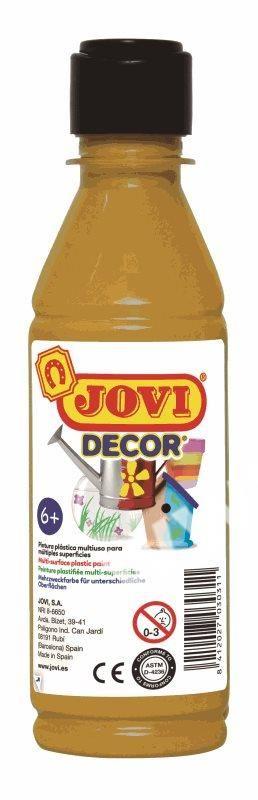 Barvy akrylové JOVI jovidecor rychlesnoucí 250ml zlatá 68038 Plastická barva na bázi vody a latexu