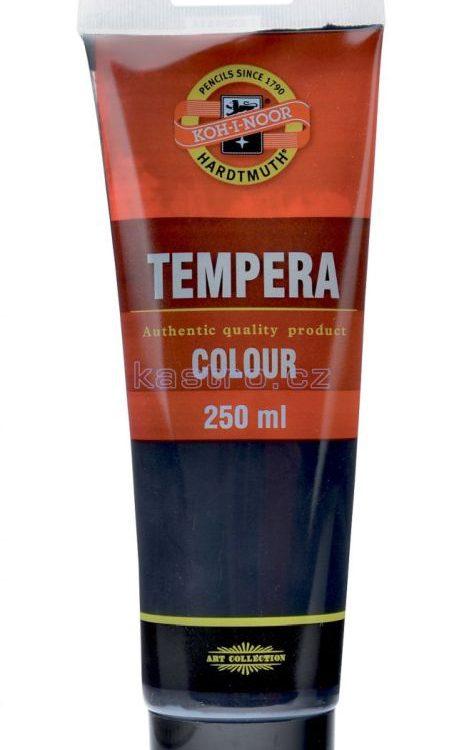 Barvy temperové  Koh-i-noor tuba 250ml černá ČERNÁ Tempery obsahují vysoce kvalitní pigmenty
