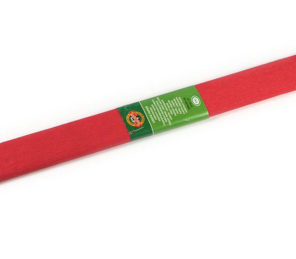 Papír krepový Koh-i-noor červený 07/08 Krepový papír jednobarevný - nabízíme krepové papíry v různých barvách