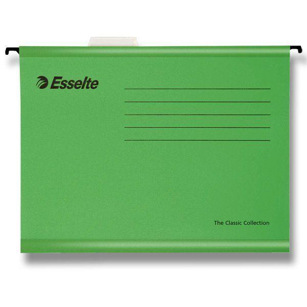 Závěsné desky Pendaflex zelené Závěsné zakládací desky -součástí je plastový rozlišovač s výměnným papírovým štítkem -jasné barvy: ZELENÁ Balení obsahuje: 25 ks