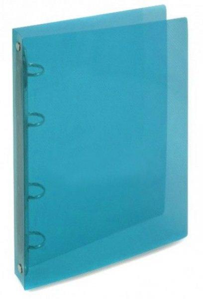 Desky 4 krou/20 OPAL modrá Desky z transparentního polypropylenu s kroužkovou mechanikou -pro ukládání děrovaných dokumentů -šíře hřbetu 2 cm -kapacita 70 listů -balení: 25ks -800 mikronů