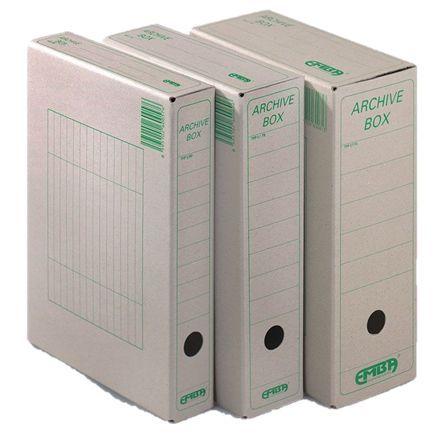 Box archivní  plný 33x26x15 EMBA přírodní Papírová krabice z hladké ruční lepenky 1000 g / m2 Rozměr 33 cm x 26 cm x 15 cm Balení: 25 ks Pro formát: A4