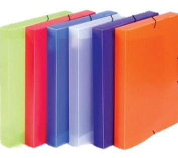 Desky box plast s gumou žluté Opaline Popis Box na spisy A4 s gumou průsvitný Opaline - hřbet 3 cm / červená -box na spisy vyrobený z kvalitního polypropylenu