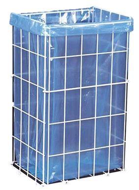 Koš na použité papírové ručníky - 34 x 54 x 26 cm / bílá / 47 litrů Odpadkový koš vyrobený z lehkých aluminiových prutů potažených bílým PVC. -skládací -vhodný na wc na použité papírové ručníky či na jiný papírový odpad Objem: 47L