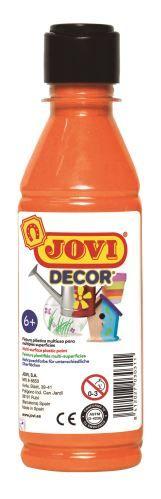 Barvy akrylové JOVI jovidecor 250ml oranžová - 68006 Plastická barva na bázi vody a latexu